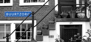 bord buurtzorg, voorkant gebouw, transitiepartners