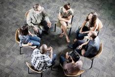 overleg, zittend in cirkel, transitiepartners