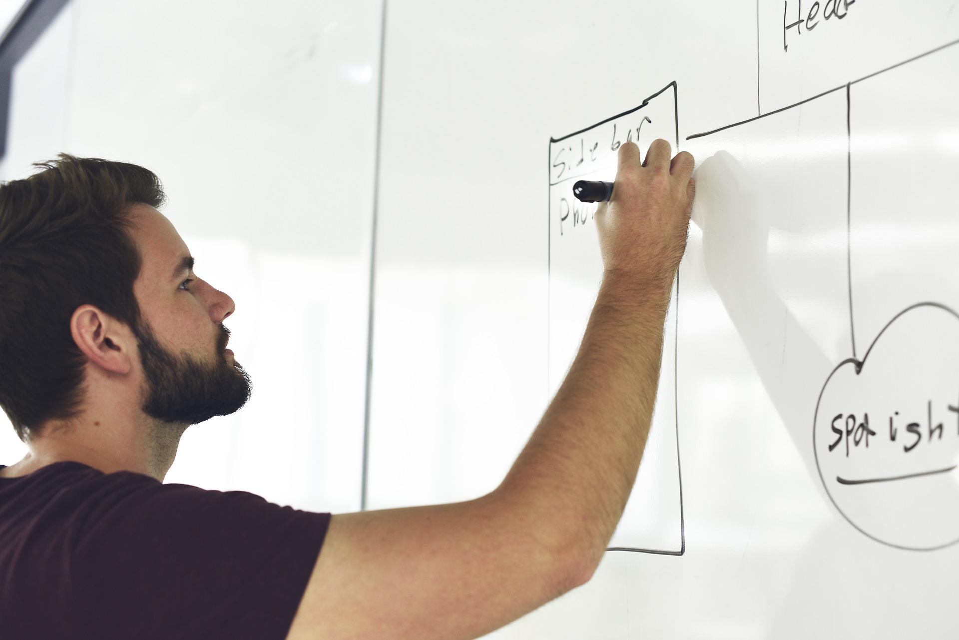 whiteboard, stift, transitiepartners